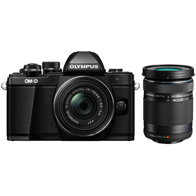 Olympus OM-D E-M10 Mark II Digital Camera with 14-42mm Lens and 40-150mm Lens - Winter Cashback £75 - Campkins - 1