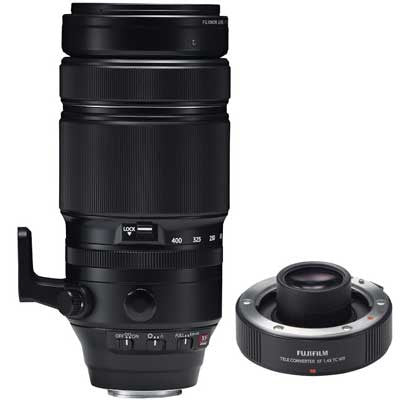 Fuji 100-400mm f4.5-5.6 R LM OIS WR Fujinon Lens with 1.4X Teleconverter - Campkins - 1