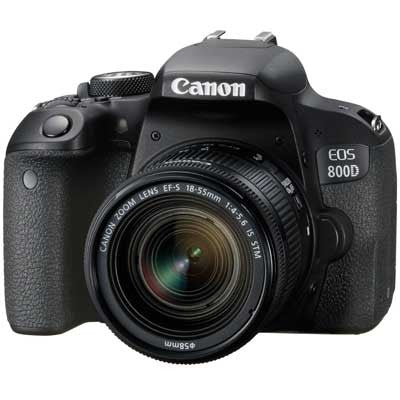 Canon EOS 800D Digital SLR Camera with 18-55mm IS STM Lens - In Stock Now