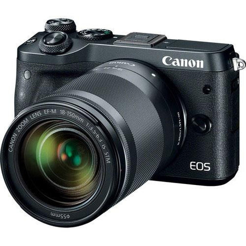 Canon EOS M6 Mirrorless Camera in Black + 18-150mm Lens
