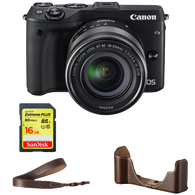 Canon EOS M3 EF-M 18-55mm Premium Accessory Kit - Campkins