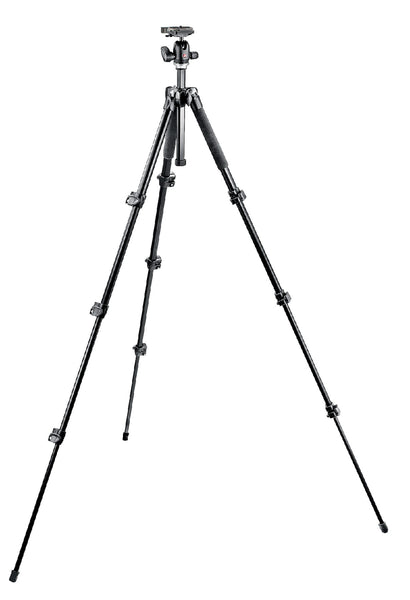 Manfrotto 293 Aluminum Kit, Tripod 4 sections with Ball Head QR - Campkins