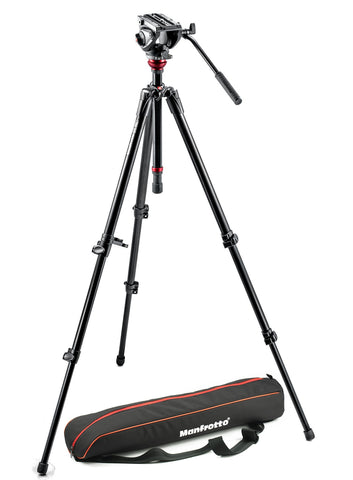Manfrotto - Lightweight fluid video system / aluminum legs / MDeVe - Campkins