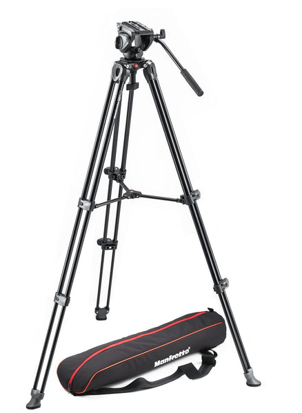 Manfrotto - Lightweight fluid video system / twin legs / middle spreader - Campkins