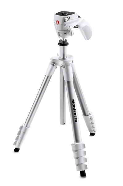Manfrotto - COMPACT ADVANCED WITH 3-WAY HEAD WHITE - Campkins