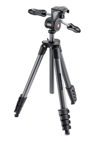 Manfrotto - Compact Advanced WITH 3-WAY HEAD BLACK - Campkins