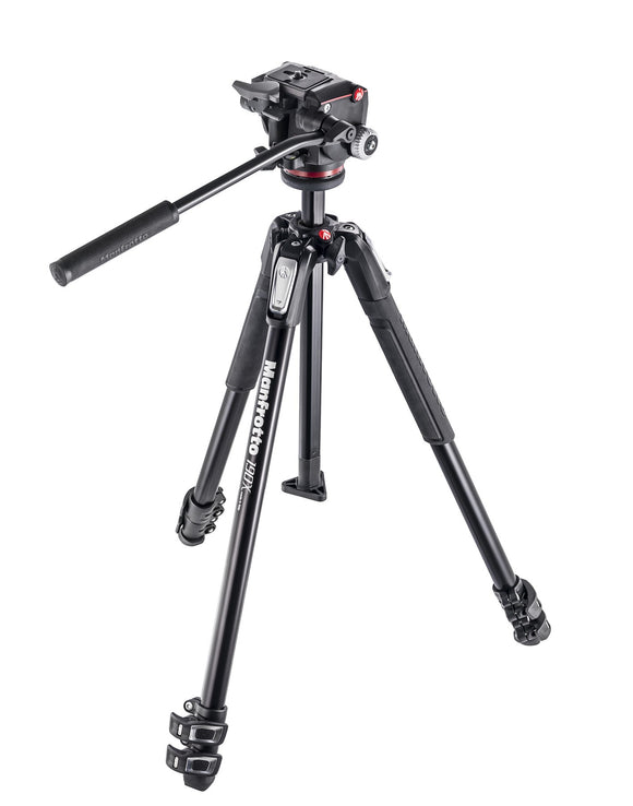 Manfrotto 190X kit - alu 3-section tripod + MHXPRO-2W fluid head - Campkins