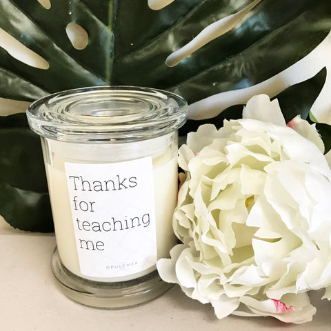 Teacher Candle -Scented Candles - Opulenza Fragrances