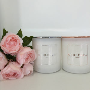 Vogue Collection Luxury Soy Wax Candles - Matte White - Candles - Opulenza Fragrances