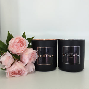 Vogue Collection Luxury Soy Wax Candles - Matte Black - Candles - Opulenza Fragrances
