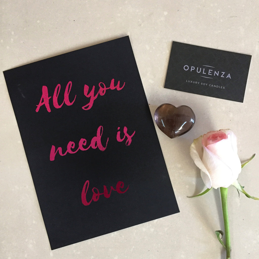 All You Need Is Love - Wall Prints - Opulenza Fragrances