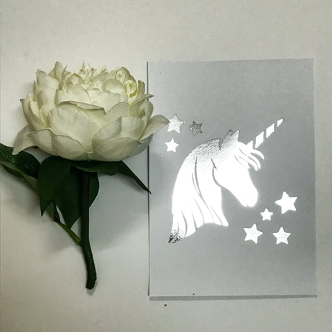 Star Unicorn Foil Print