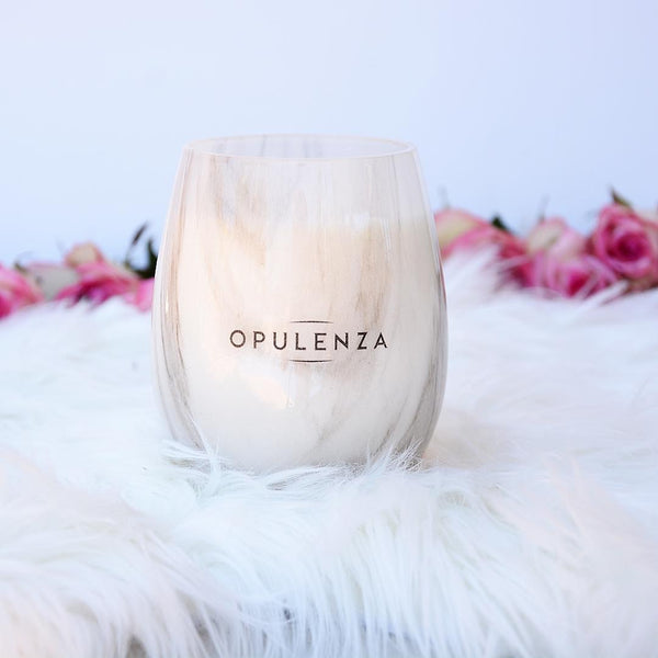 Marble Stemless Scented Soy Wax Candle - Candles - Opulenza Fragrances