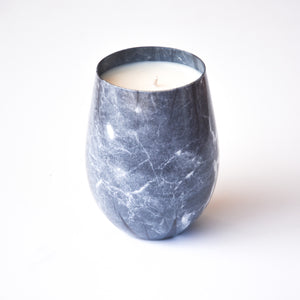 Black Marble Stemless Scented Soy Wax Candle