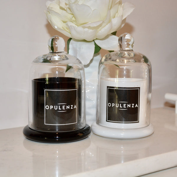 MONOCHROME CLOCHE SOY WAX SCENTED CANDLES - Opulenza Fragrances