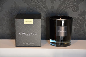 Lemongrass scented candle - Opulenza Fragrances