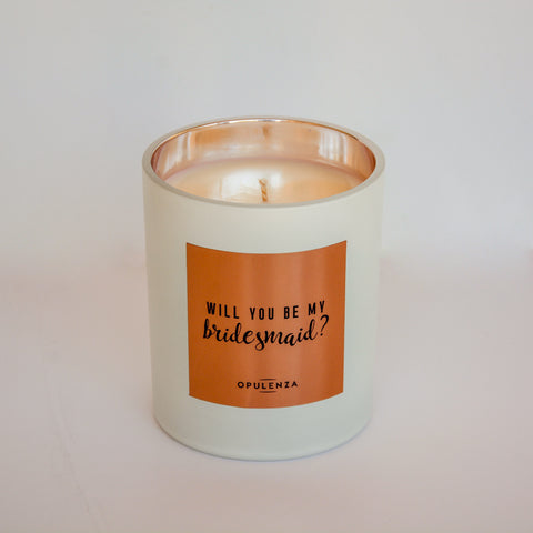 """Will You Be My Bridesmaid"" Soy Wax Candle Gift"