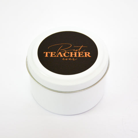 Best Teacher Ever Candle Tin