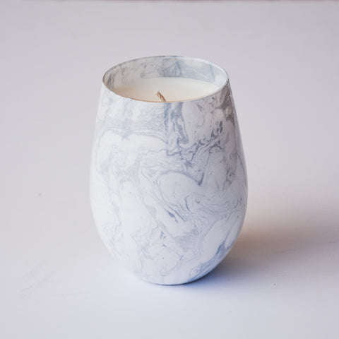 White Marble Stemless Scented Soy Wax Candle