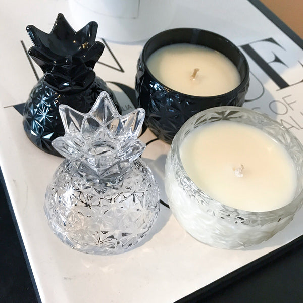 Mini Pineapple Soy Wax Candle - Candles - Opulenza Fragrances