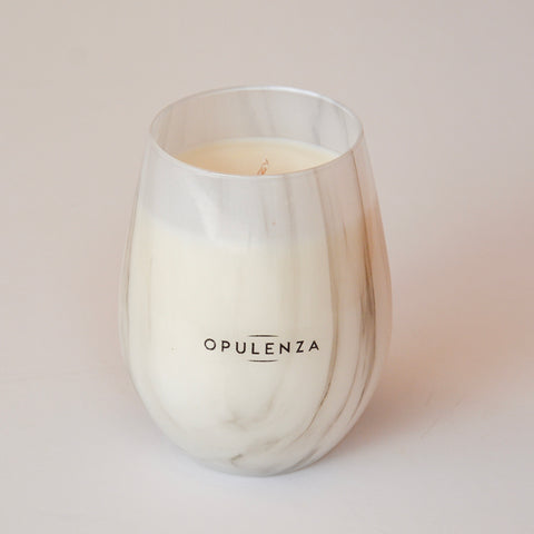 Marble Stemless Scented Soy Wax Candle