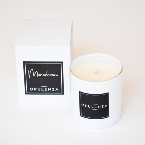 Monochrome Small Soy Wax Candle