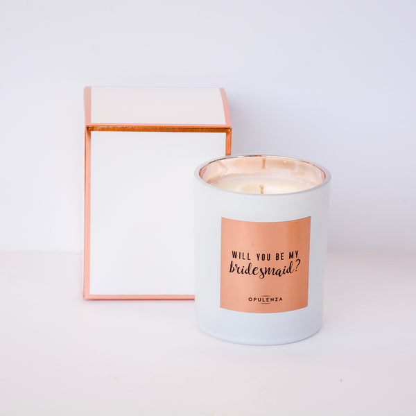 Will you be my bridesmaid? - scented soy candle
