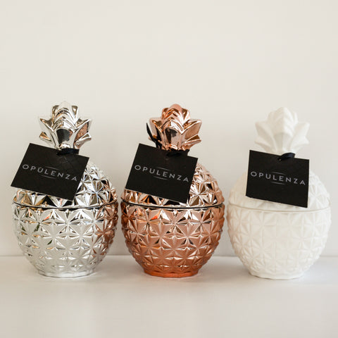 Medium Pineapple Scented Candles - Opulenza Fragrances