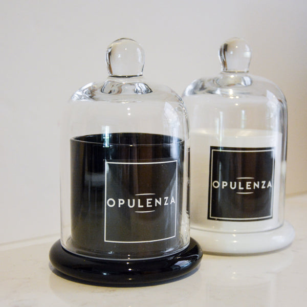 MONOCHROME CLOCHE SOY WAX CANDLES - Candles - Opulenza Fragrances