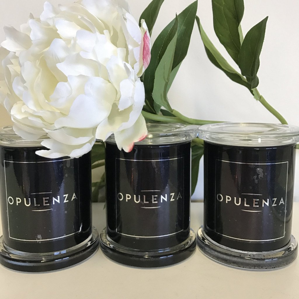 Medium Black Monaco Scented Jar - Candles - Opulenza Fragrances