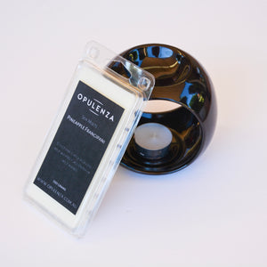Ceramic Gloss Black melt burner and melts pack Combo