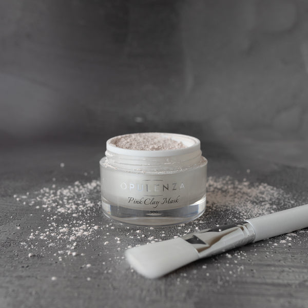 Pink Clay Mask with Brush