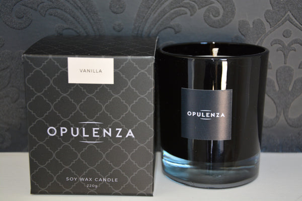 Vanilla scented candle - Opulenza Fragrances