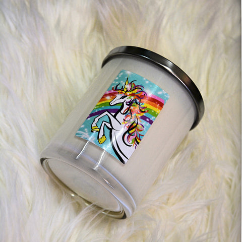 Unicorn Soy Wax Candle - Candles - Opulenza Fragrances