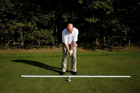 stance  for using a pitching wedge Luther Blacklock golf