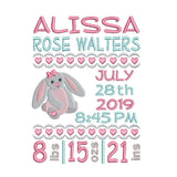 Baby birth announcement template by sweetstitchdesign.com