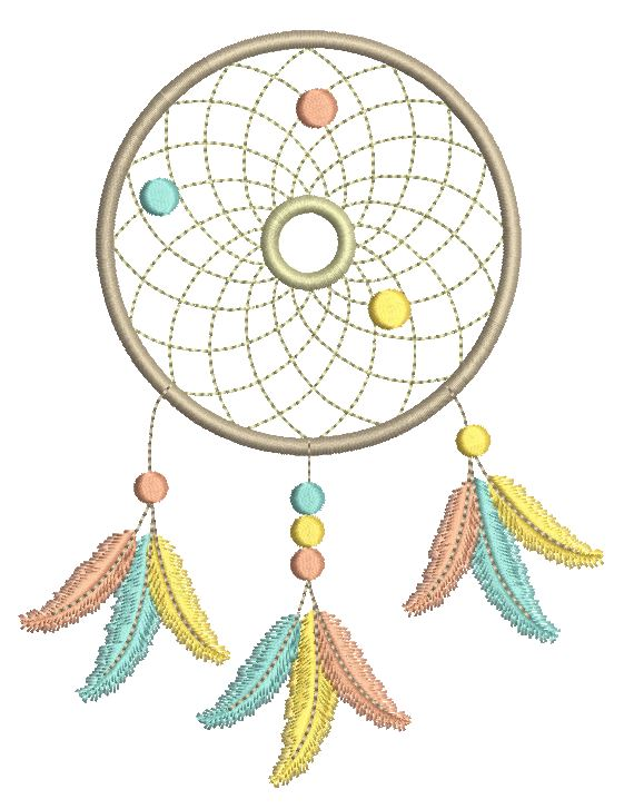 Dream catcher machine embroidery design by sweetstitchdesign.com