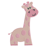 Baby giraffe machine embroidery design by sweetstitchdesign.com