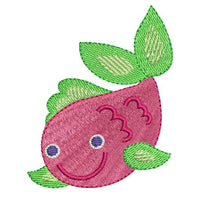 Cute fish machine embroidery design by sweetstitchdesign.com