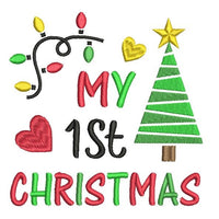 My 1st Christmas machine embroidery design by sweetstitchdesign.com