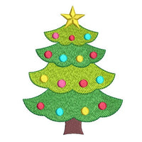 Christmas tree machine embroidery design by sweetstitchdesign.com