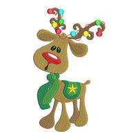 Christmas reindeer machine embroidery design by sweetstitchdesign.com