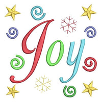 Christmas Joy machine embroidery design by sweetstitchdesign.com