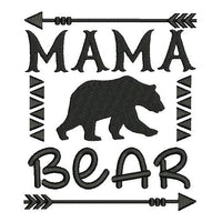 Mama bear fill stitch machine embroidery design by sweetstitchdesign.com