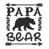 Papa bear fill stitch machine embroidery design by sweetstitchdesign.com