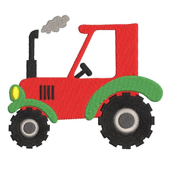 Tractor machine embroidery design by sweetstitchdesign.com