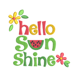 Watermelon sunshine machine embroidery design by sweetstitchdesign.com