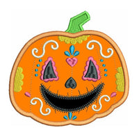 Halloween pumpkin applique machine embroidery design by sweetstitchdesign.com