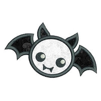 Halloween bat applique machine embroidery design by sweetstitchdesign.com