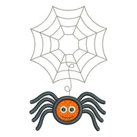 Halloween spider applique machine embroidery design by sweetstitchdesign.com